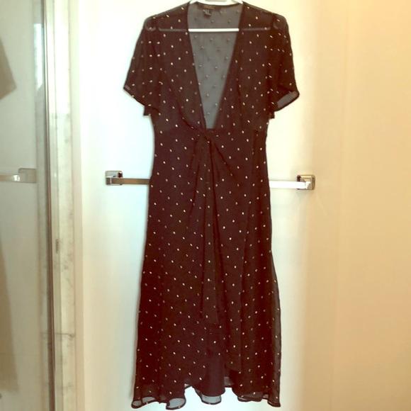 Forever21 Black midi dress
